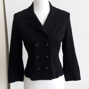 Cabi #215 Black Double Breasted Stretchy Blazer